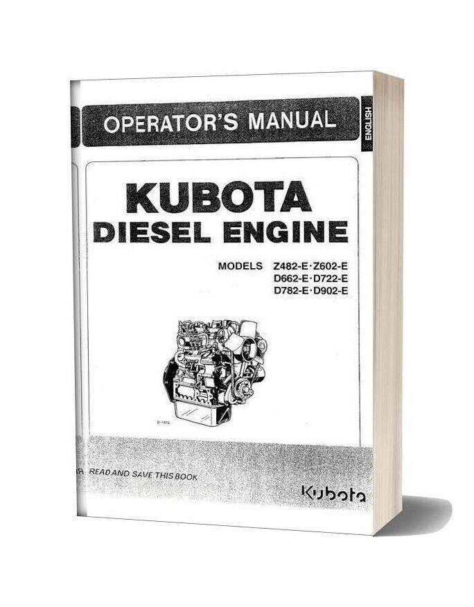 Kubota Z482 E Z602 E Operators Manual