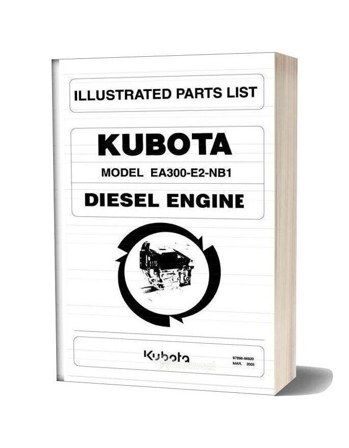 Kubotaea 300 Fischer Panda 5000 Parts List
