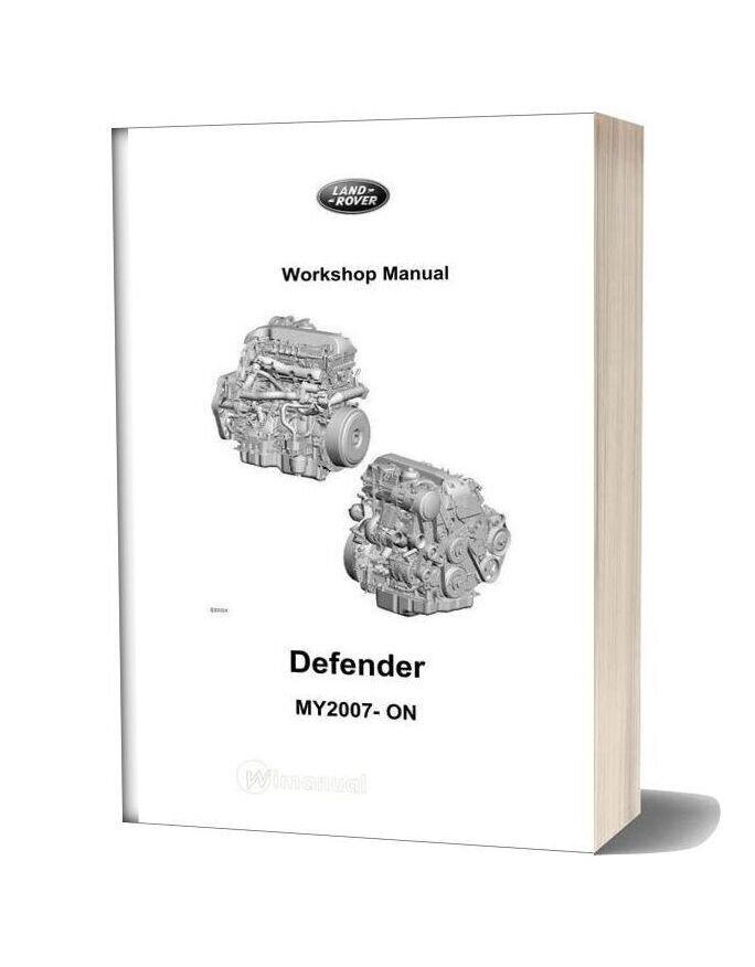 Land Rover 2010 06 Defender My07 Workshop Manual Complete