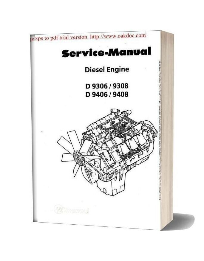 Liebherr 9408 Engine Service Manual