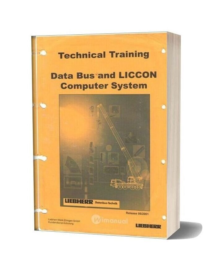Liebherr Data Bus And Liccon Computer System Technical Training