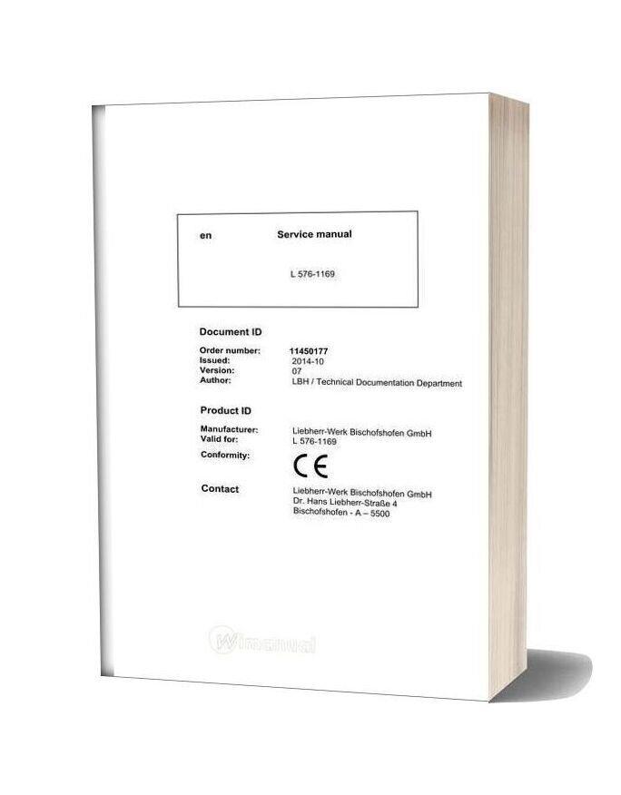 Liebherr L 576 1169 Service Manual