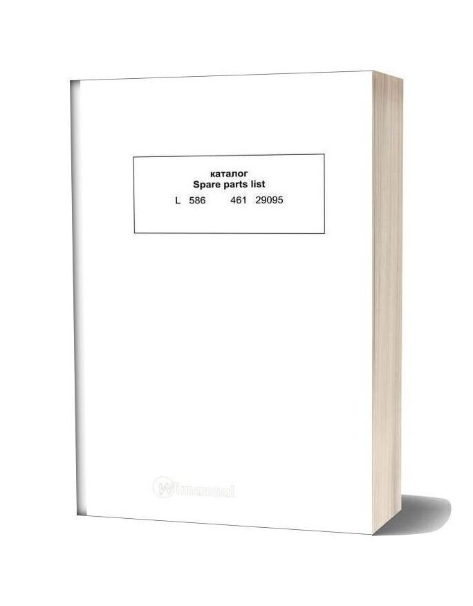 Liebherr L586 Spare Parts List