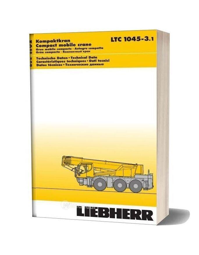 Liebherr Ltc 1045 3 1 Part Catalogue