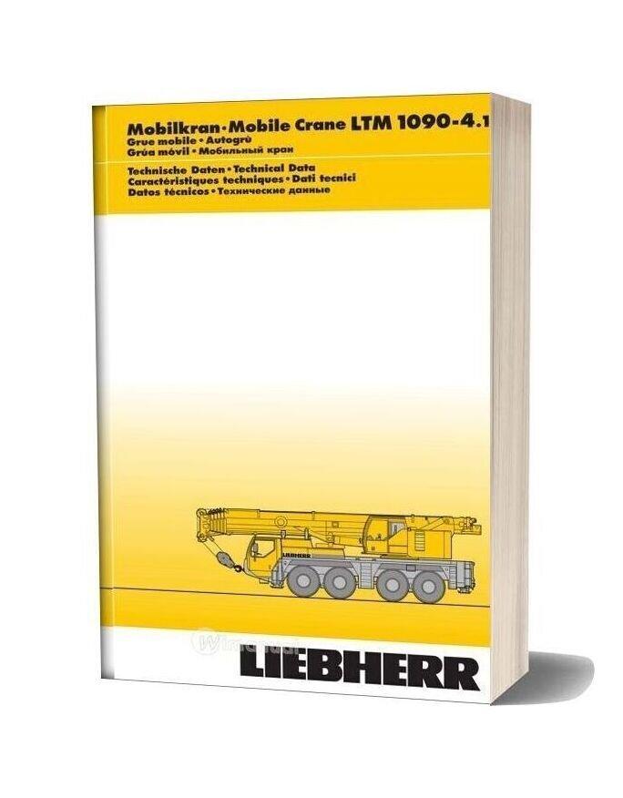 Liebherr Ltm1090 4 1 Part Catalogue
