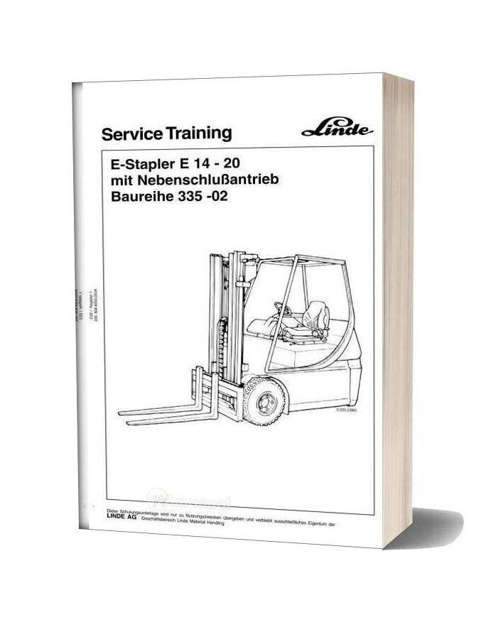 Linde 335 03 Service Training
