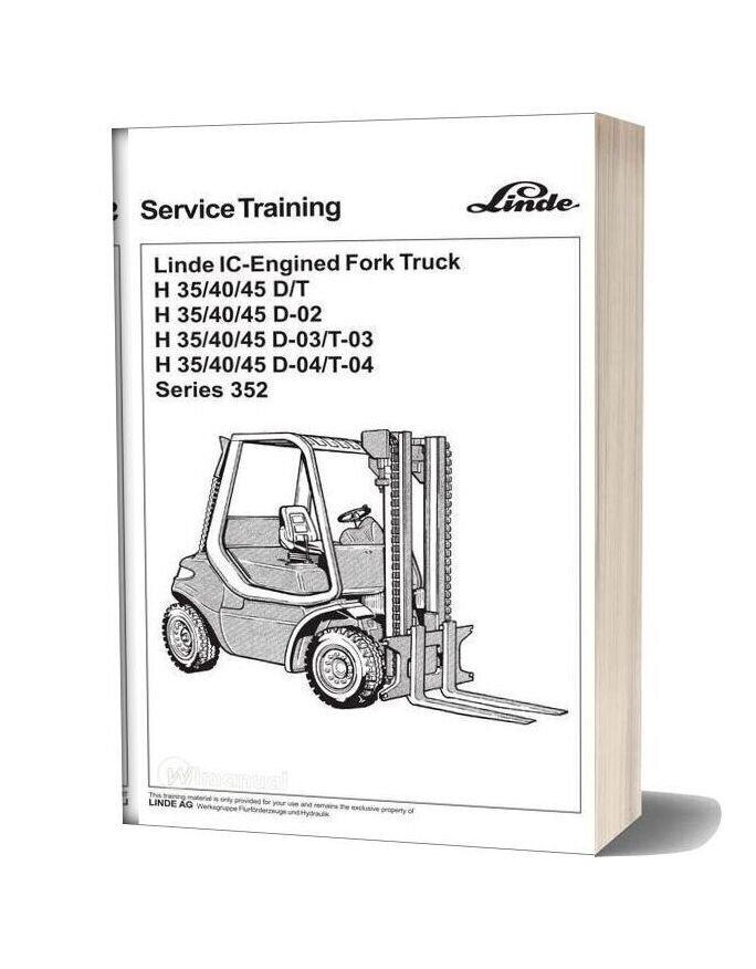 Linde Forklift Series 352 Service Training