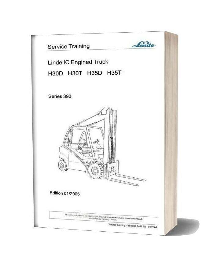 Linde Forklift Series 393 Service Training