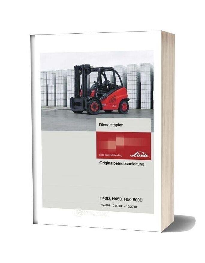 Linde Forklift Series 394d Service Training