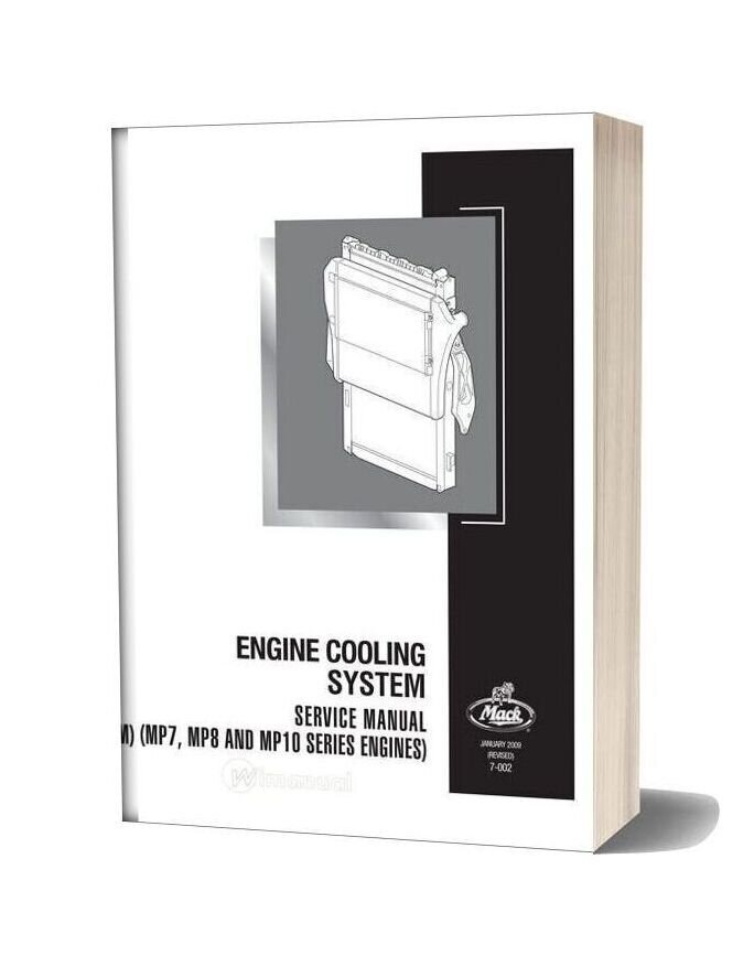 Mack 2009 Engine Mp7 Mp8 Mp10 Cooling System Service Manual