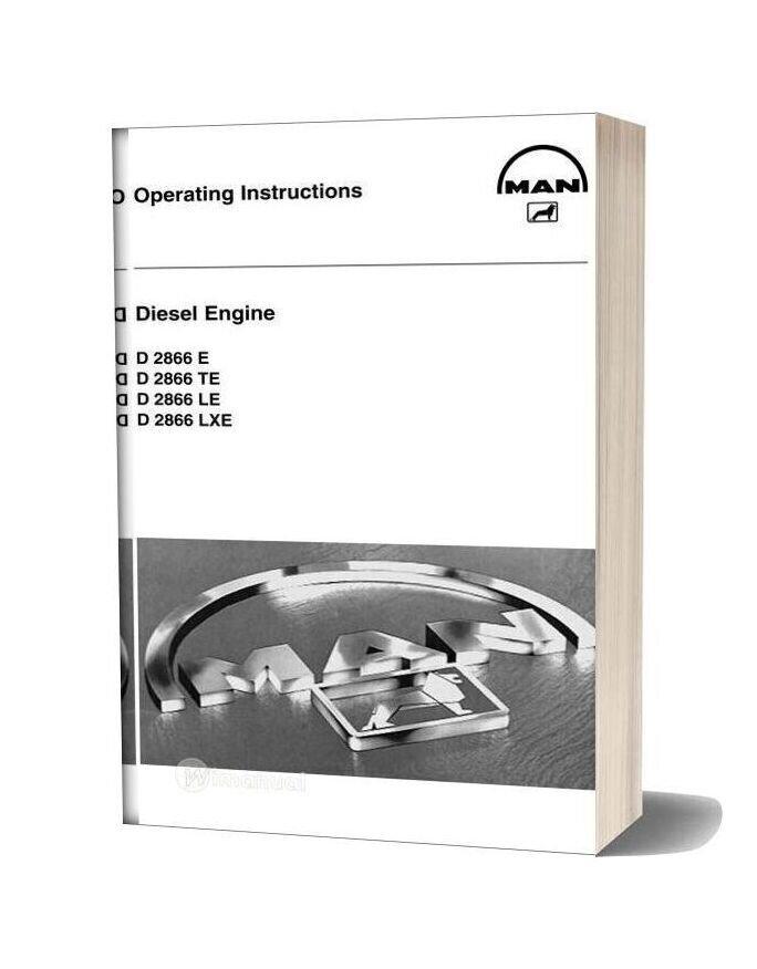 Man Diesel Engine D 2866 E D 2866 D 2866 Le D 2866 Lxe Operating Instructions