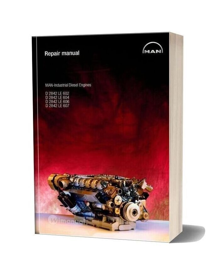 Man Industrial Diesel Engine D2842 Repair Manual
