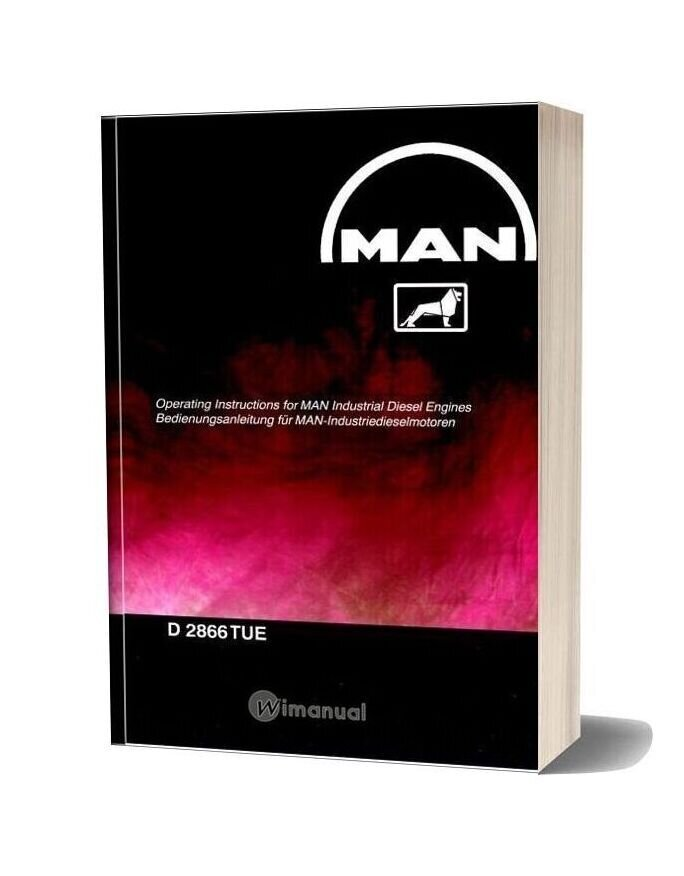 Man Industrial Diesel Engines D 2866 Tue Operating Instructions