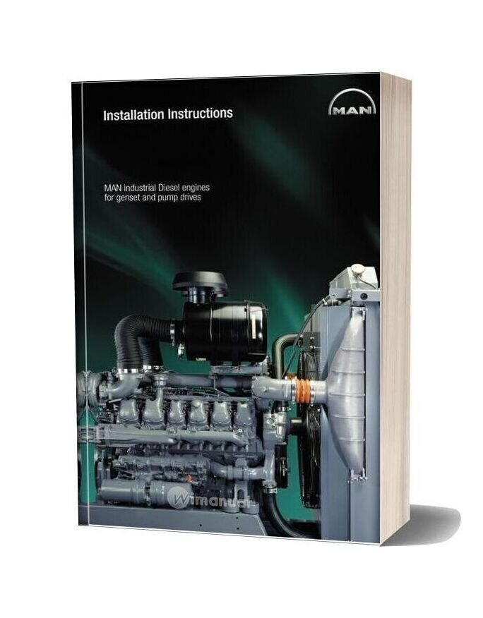 Man Industrial Diesel Engines For Gensei-Pump Drives Installation Instructions
