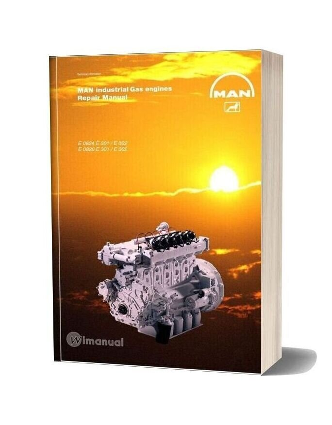 Man Industrial Gas Engines 0824 301 302 0826 301 302 Repair Manual