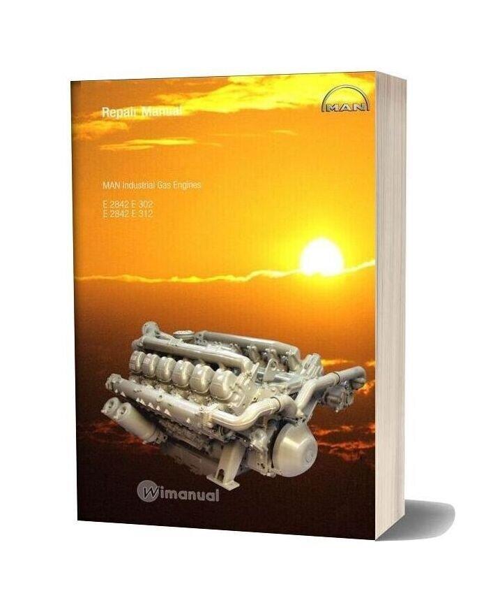 Man Industrial Gas Engines E 2842 E 302 E312 Repair Manual