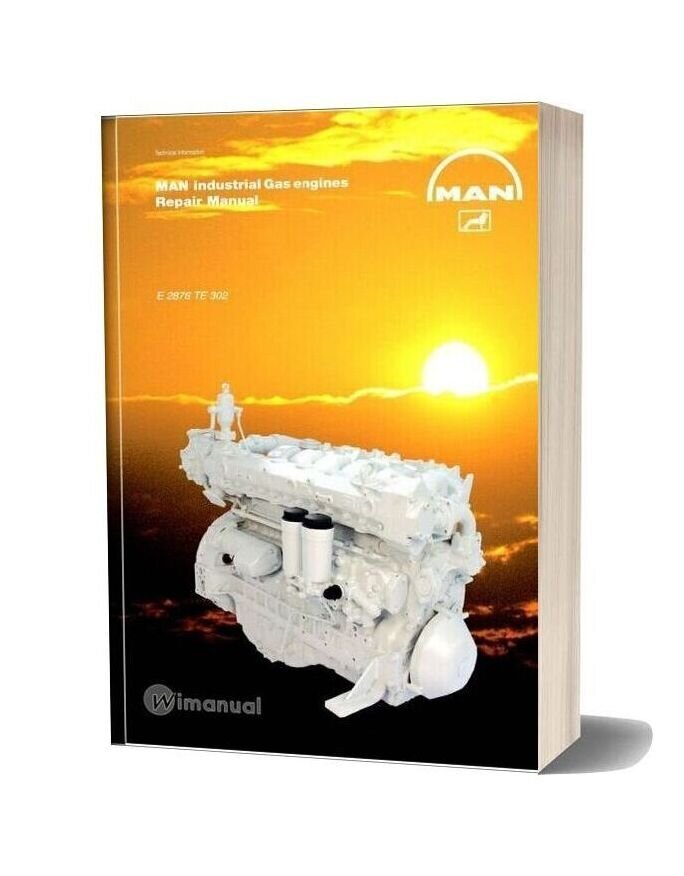 Man Industrial Gas Engines E 2876 Te 302 Repair Manual