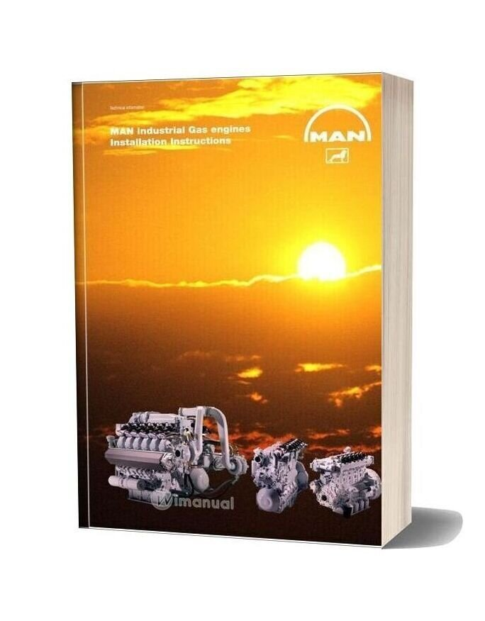 Man Industrial Gas Engines Installation Instructions
