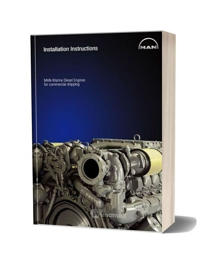 Man Marine Diesel Engines For Commercial Shipping Installation Instructions