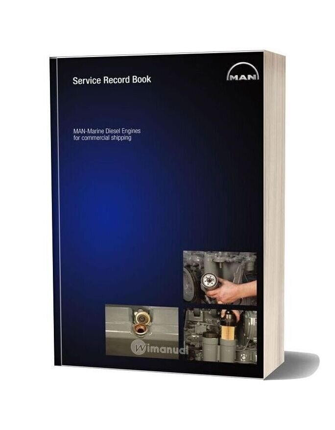 Man Marine Diesel Engines For Commercial Shipping Service Record Book