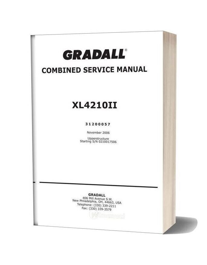 Man Xl4210ii Service Manual