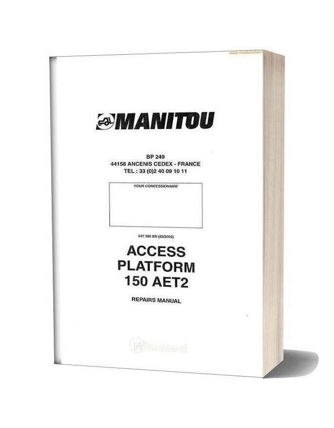 Manitou Access Platform 150 Aet2 Service Sec Wat