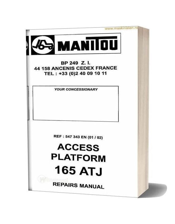 Manitou Access Platform 165 Atj Service Sec Wat