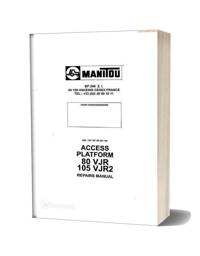 Manitou Access Platform 80 105vjr Service Sec Wat