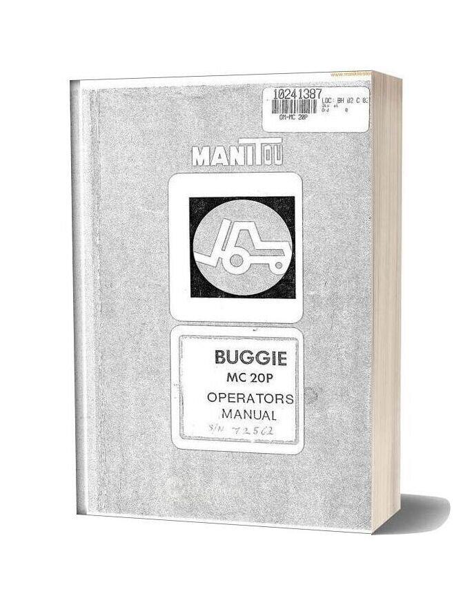 Manitou Buggie Mc20p Instructions Sec Wat