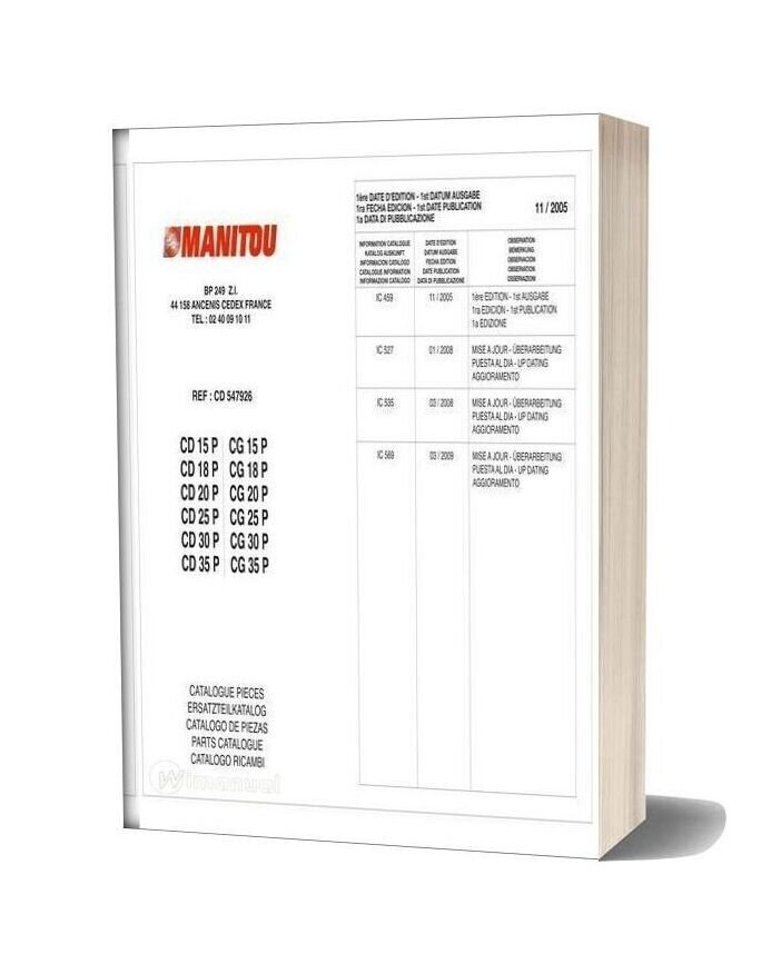 Manitou Cd15 35p Part Catalog