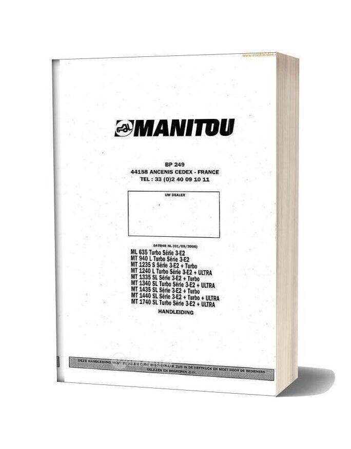 Manitou M635 Mlt1740 Instructions Nl Sec Wat