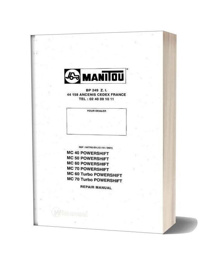 Manitou Mc 40 50 60 70 Repair Manual