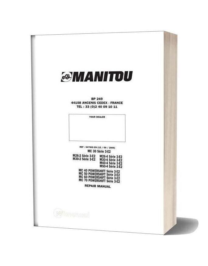 Manitou Mc Serie 3 E2 Repair Manual