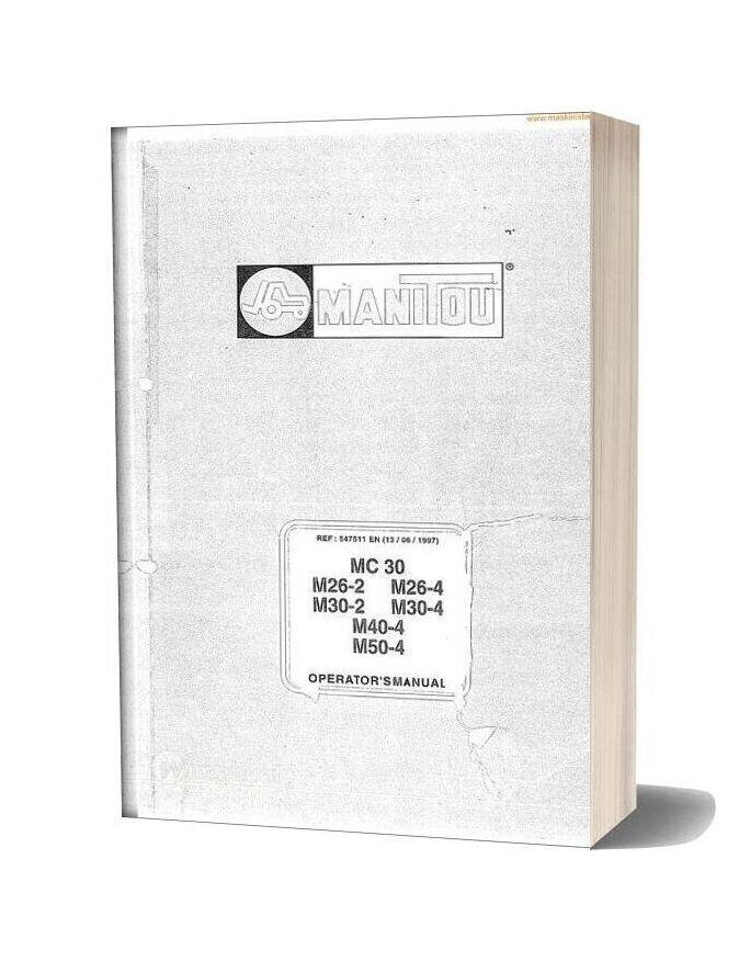 Manitou Mc30 M26 50 Instructions Sec Wat