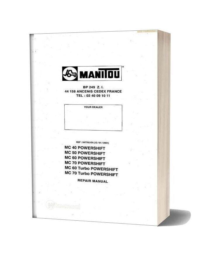 Manitou Mc40 50 60 70 Service Sec Wat