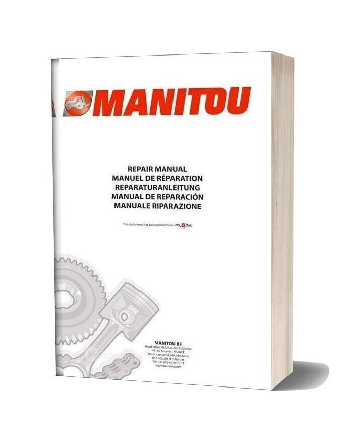 Manitou Mlt 845 Mlt X 845 Service Manual