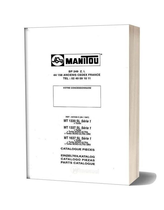 Manitou Mt 1330 1337 1637 Part Catalog