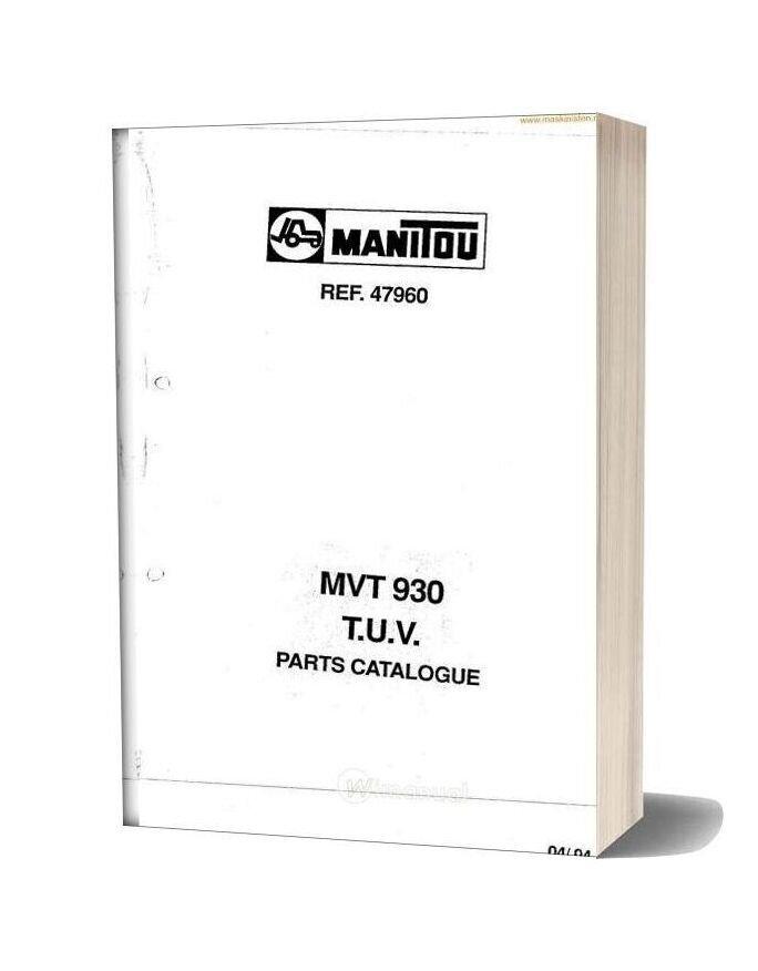 Manitou Mvt930 Parts Sec Wat