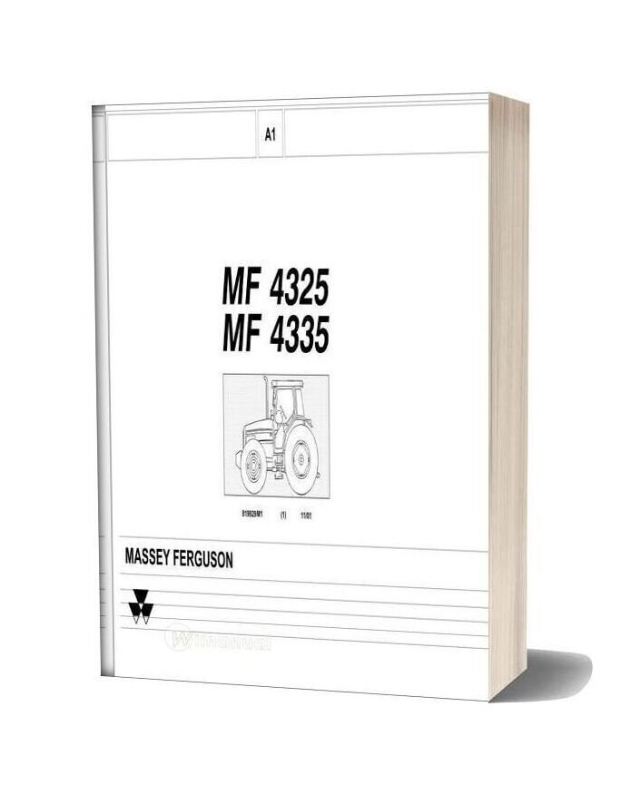 Massey Ferguson Mf4325 4335 Part Catalogue