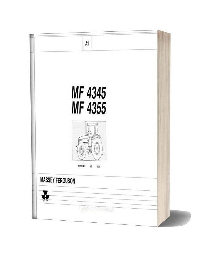 Massey Ferguson Mf4345 4355 Part Catalogue