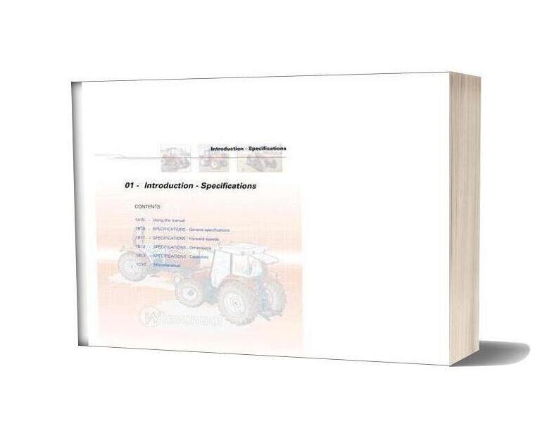 Massey Ferguson Mf5400 Workshop Manual 01 Introduction