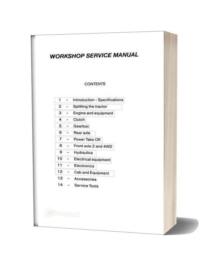 Massey Ferguson Service 6100 Complete Tractor Workshop Manual