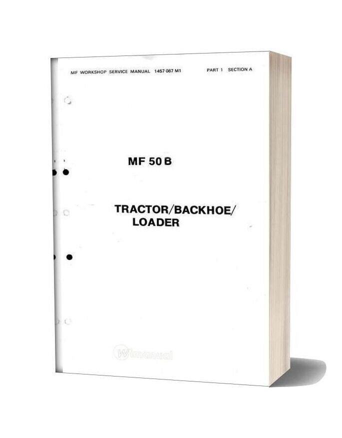 Massey Ferguson Tractor 50b Maintenance