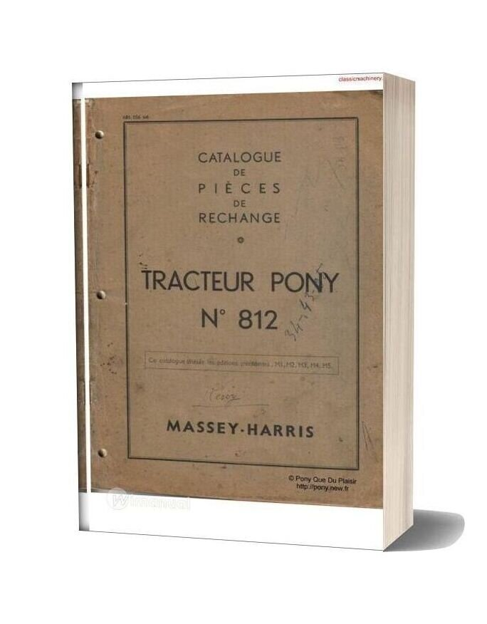 Massey Harris Pony 812 Parts Manual