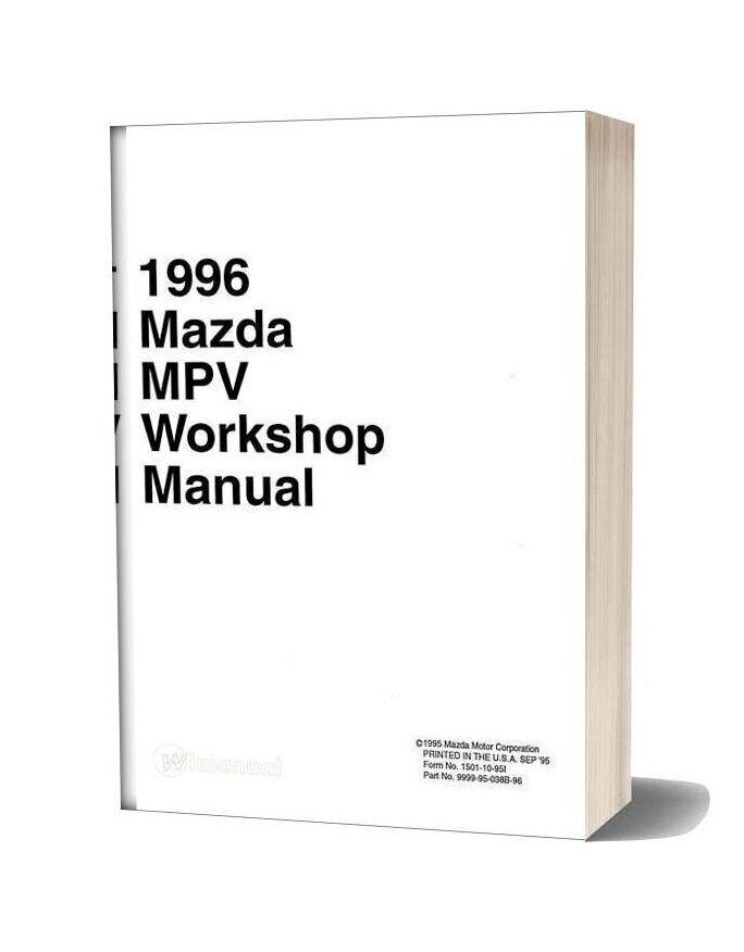 Mazda 1996 Mpv Workshop Manual