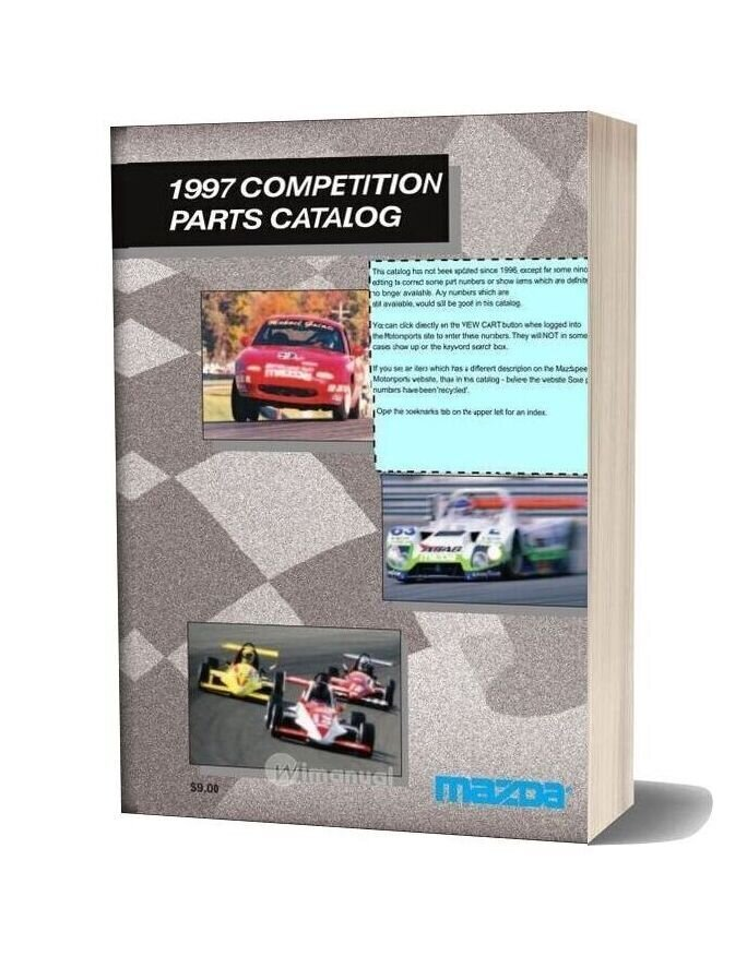 Mazda 1997 Competition Parts Catalog