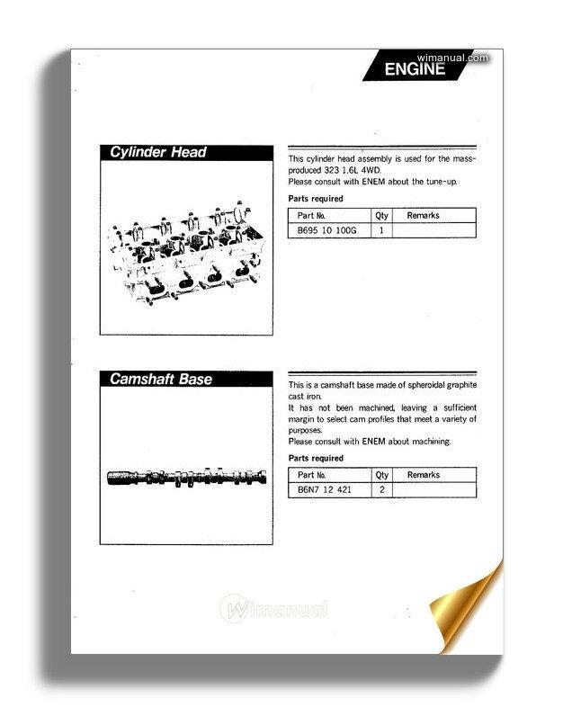 Mazda 323 1988 Rally Parts Manual