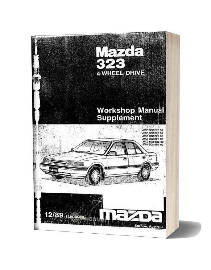 Mazda 323 Bg 4wd Workshop Manual