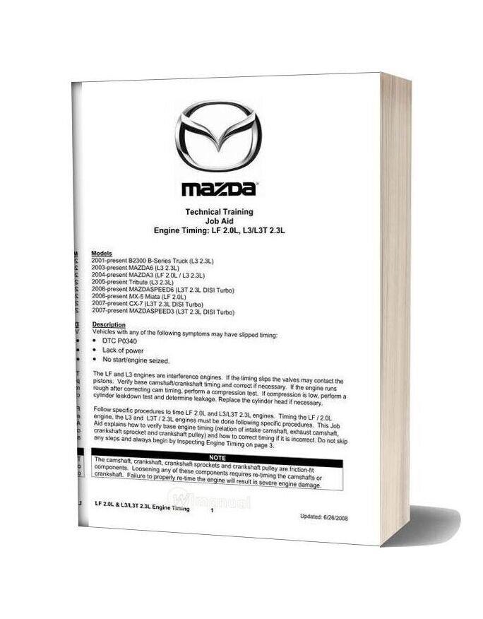 Mazda 626 Engine Timing Procedure