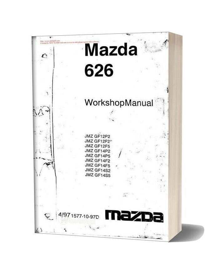Mazda 626 Workshop Manual In English